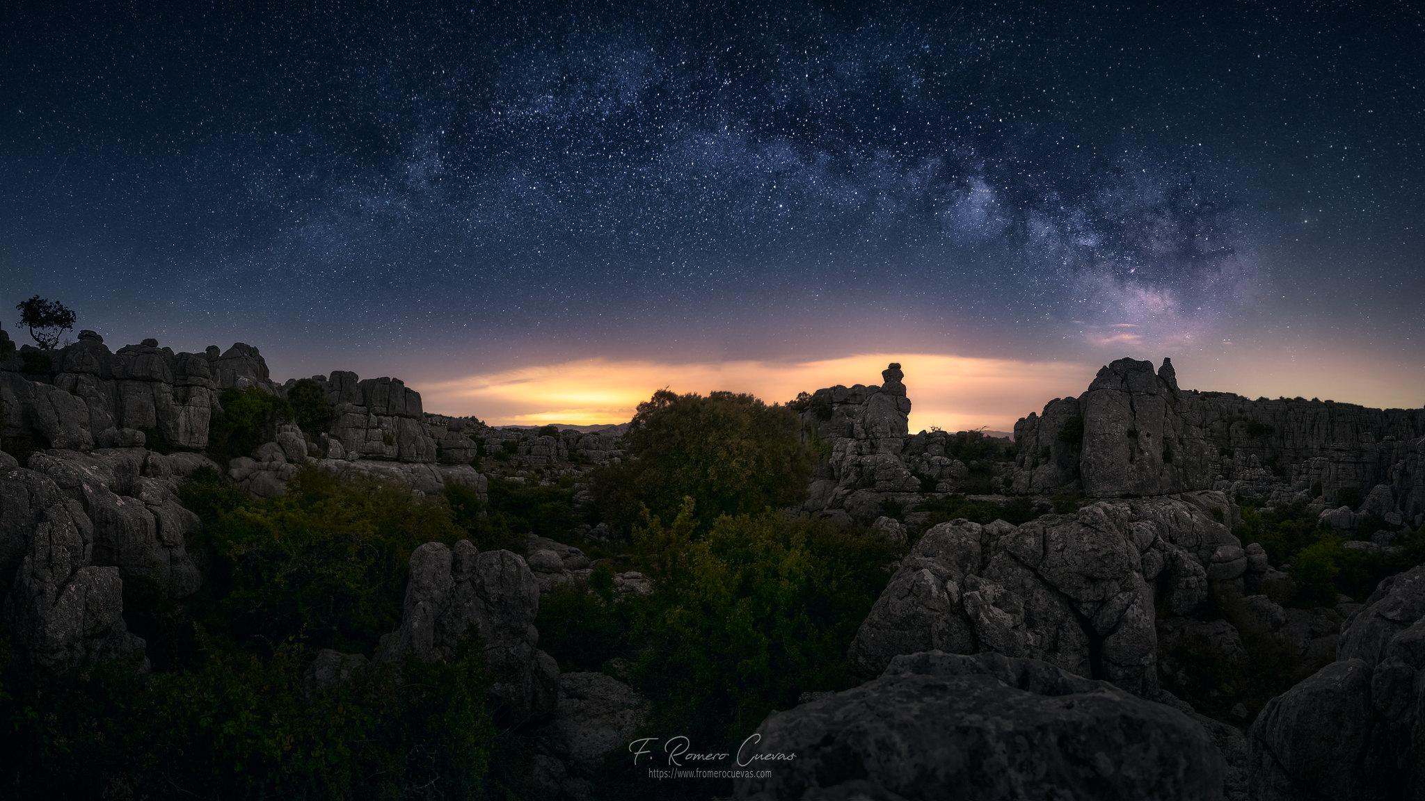 Panorámica Vía Láctea en el Torcal